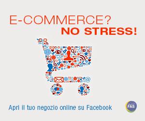 Banner del servizio e-commerce su Facebook del gruppo Fas