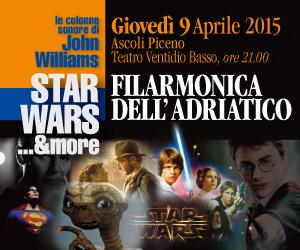 Banner del concerto dedicato a John Williams della Filarmonica dell'Adriatico