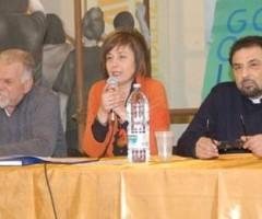 Lucio Porrà, Lucia Giannetti e don Tonino Nepi presentano l'Infiorata