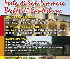 festa san tommaso becket - itinerari della fede - montedinove
