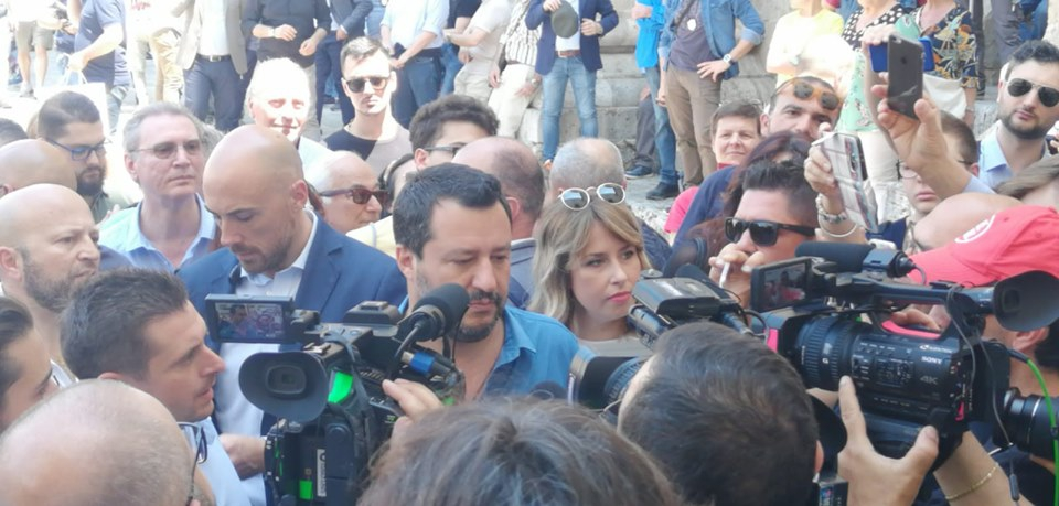 Matteo Salvini ad Ascoli