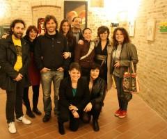 membri associazione villaggio planetario inaugurazione mostra