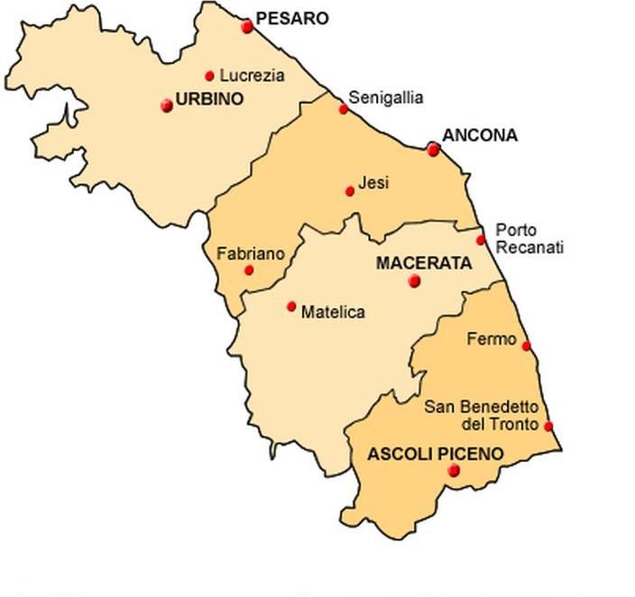 Le Marche Cartina Politica.Province Cal Approva Riordino A Quattro Prima Pagina Online