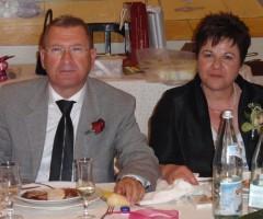 Sante Coccia con la moglie