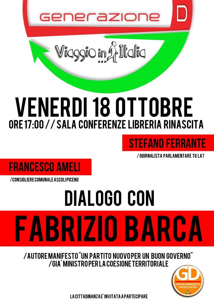 Generazione D ospita Fabrizio Barca da Rinascita • Prima ...