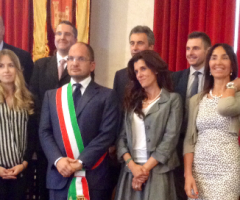 Gli assessori della giunta di Guido Castelli.