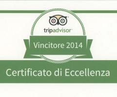 Tripadvisor Certificato di Eccellenza 2014