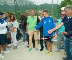 Inaugurazione centro poli-sportivo a Pretare