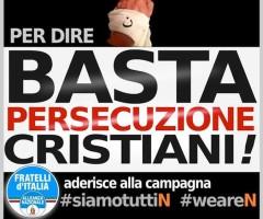 Stop persecuzione cristiani