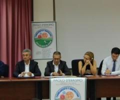 Paolo D'Erasmo, candidato presidente della Provincia e gli aspiranti consiglieri