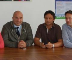 Da sx: Silvia Fioravanti, Valerio Lucciarini, Francesco Ruggieri, Alessandro Luciani, membri della giunta dell'Unione dei Comuni.