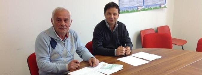Pio Silvestri e Francesco Ruggieri annunciano l'intitolazione della nuova via al carabiniere Emidio Baiocchi