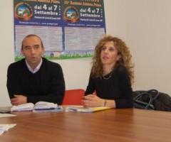 Presentazione tavola rotonda sulla crisi nel Piceno. Da sx: Francesco Ruggieri, Andrea Quaglietti, Olimpia Angelini.