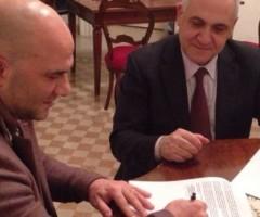 Sottoscritto l'accordo tra Valerio Lucciarini e Giuseppe Tancredi che riconsegna gli impianti sportivi a Offida
