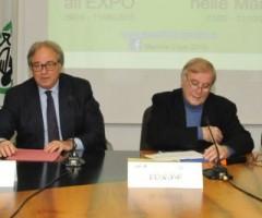 Presentazione Marche all'Expo: Gian Mario Spacca, Aldo Bonomi, Alberto Mina.