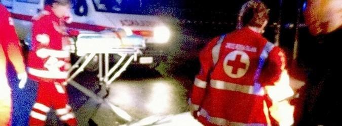 Ambulanza - cadavere incidente stradale