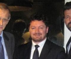 Roberto De Angelis con Piero Fassino e Maurizio Mangialardi