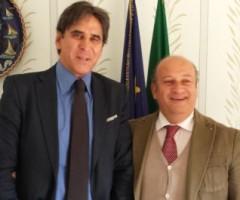 Sandro Assenti e Gino Sabatini alla presentazione dei progetti legati alla Macroregione adriatico ionica