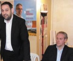Fabio Urbinati con Alessia Morani e Antimo Di Francesco