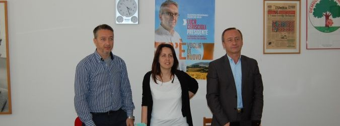 PD lamense: Claudio Bellini, Enrica Pieragostini, Vincenzo Camela