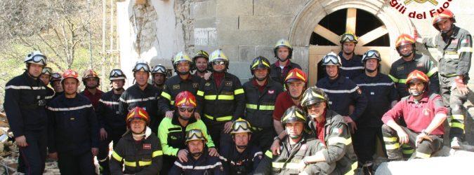 Vigili del fuoco francesi ad Arquata del Tronto