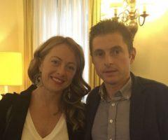 Giorgia Meloni e Marco Fioravanti