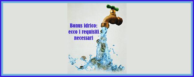 Ciip e bonus idrico 2017