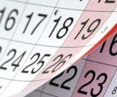 Calendario ponti 2018
