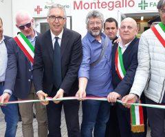 ricostruzione post terremoto - inaugurazione centro commerciale montegallo