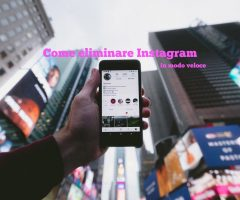 eliminare account instagram