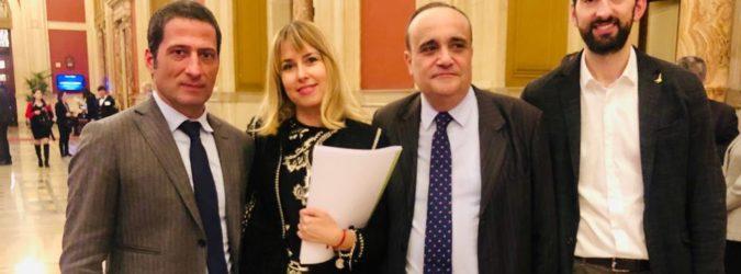 On. Giorgia Latini - Ministro Alberto Bonisoli necropoli castel trosino
