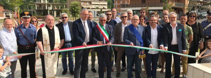 comunanza inaugurazione piazza delle terme romane