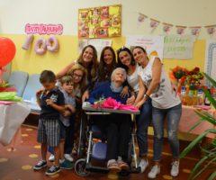 Ascoli Piceno, compleanno di nonna Giggia