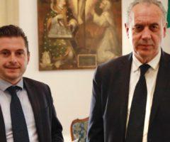 ricostruzione scuole Marco Fioravanti e il Commissario Straordinario Giovanni Legnini