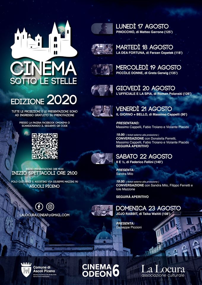 cinema sotto le stelle 2020