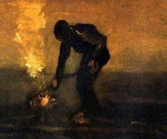 Il fuoco nella notte Van Gogh