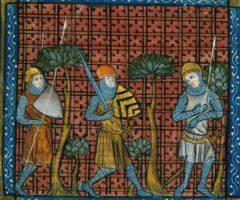 Crociati Crusaders,_from_Chroniques_de_France_ou_de_St_Denis,_14th_century_(22716450535)